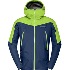 Norrøna M's Falketind Gore-Tex Jacket Indigo Night/Birch Green
